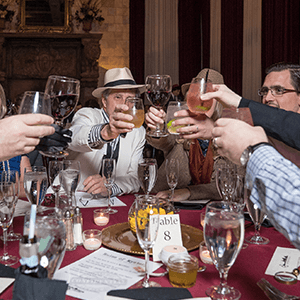 Cincinnati Murder Mystery guests raise glasses